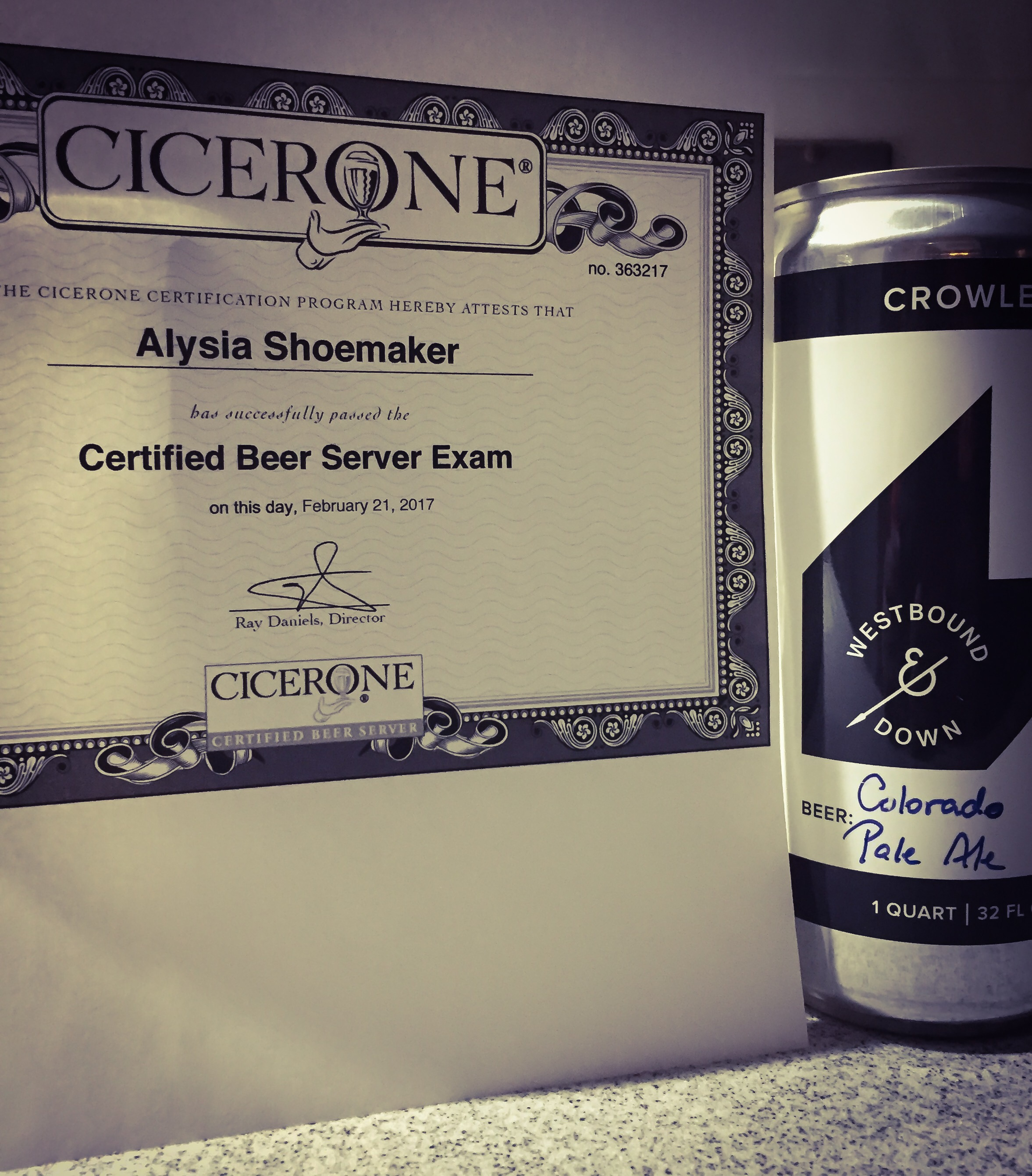 cicerone certified beer server I took the certified beer server exam back in may 2015 (the image at the top of this post is from that very day), and since then i'd been saying i wanted to take the certified cicerone exam, but it took a long while to get around to it.
